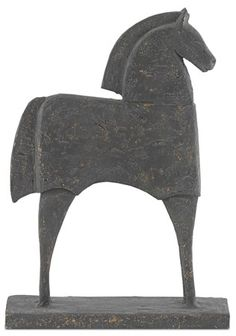 Currey and Company Tall Balius Composite Horse Statue Product Features:Artfully crafted from compositeProtects your surfaces from knicks and scratches with foam bottoms Statues & Figurines Gold Flecked Iron Horse Sculpture, Modern Sculpture, Abstract Sculpture, Burke Decor, Decorative Objects, Old World, Heavy Metal, Sculptures, Iron
