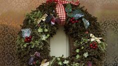 Knit Christmas Wreath patterns – free – Grandmother's Pattern Book