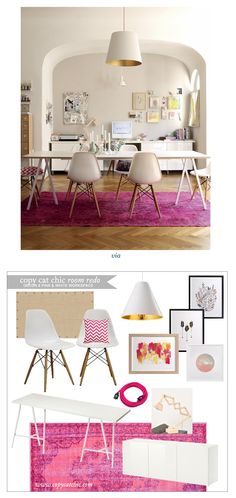 Copy Cat Chic Room Redo | @Holly Becker's Cheery Workspace | Get the look for only $1,795