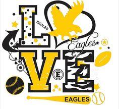 Eagles Spirit LOVE Shirt by WhitefishCreations on Etsy, $23.00