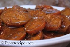 Easy recipe for Baked Candied Yams. This is perfect for Thanksgiving!