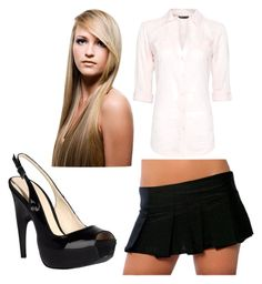 """""""bad teacher"""" by blubuddi974 ❤ liked on Polyvore featuring MANGO and COSTUME NATIONAL"""