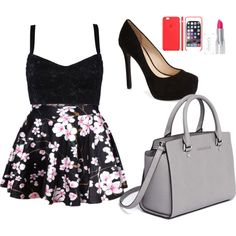 Untitled #15 by miniafrica on Polyvore featuring polyvore fashion style Dolce&Gabbana Jessica Simpson MICHAEL Michael Kors