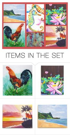 """""""KauaiArtist"""" by rescuedofferings ❤ liked on Polyvore featuring art and EtsySpecialT"""