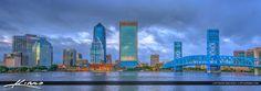 Jacksonville Skyline Florida Duval County Panorama