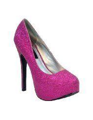 pink glitter heels!