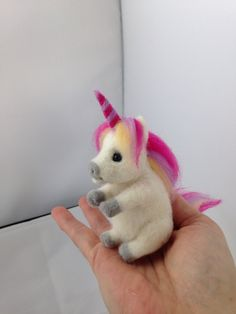 Needle Felted Unicorn, wool, felt unicorn, Fantasy, felted animal, Horse,soft…