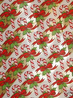 Vintage Commercial Roll Christmas Gift Wrapping Paper (12/01/2008)