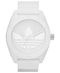 adidas Watch, White Silicone Strap 50mm ADH2711