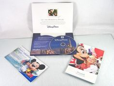 #Disney #Parks and #Destinations #vacation planning #DVD DVD-ROM #disc and #brochure #guide set for #getaway #travel #trip to #Disneyland #California and Walt Disney World theme #park and #resort from 2013, brand new and unused in original manufacturer's blue and white cardboard insert sleeve case and full color promotional paper inserts…