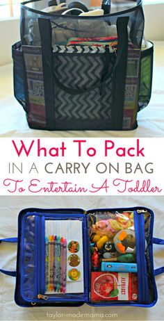 Tips for how to entertain a toddler on a flight. How to pack the perfect carry on bag (including an in-flight entertainment case) to keep your toddler occupied and happy. FREE PRINTABLE CHECKLIST traveling with kids packing for a toddler top ti Toddler Plane Travel, Airplane Travel, Travel With Kids, Family Travel, Baby Travel, Family Vacations, Airplane Hacks, Airplane Kids, Travel Plane