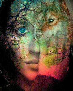 wolf and woman pic