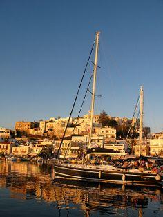 Sailboat reflection Naxos  Greece