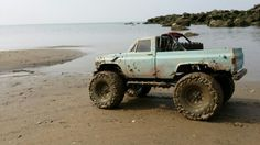 One of , if not my favorite truck on the web. Axial Scx10 with Clodbuster body and 1.9 Mickey Thompson Baja Claws.