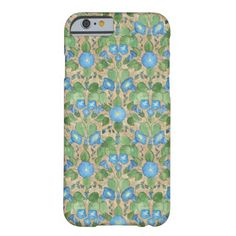 A pretty and slim case to protect your iPhone 6 smartphone, with a nostalgic pattern of Bright Blue Morning Glory Flowers on a Taupe background . Part of the Posh & Painterly 'Morning Glory' collection. (This pattern will fit all of the cases.) up to $47.95 - http://www.zazzle.com/nostalgic_blue_morning_glory_iphone_6_slim_case-256009060897049787?rf=238041988035411422