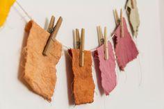 Tecido com corante natural para as capas da Caderneto