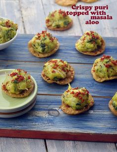 Indian Appetizers, Appetizers For Party, Appetizer Recipes, Indian Snacks, Party Recipes, Party Snacks, Masala Aloo Recipe, Chaat Recipe, Yummy Snacks