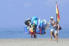 Strandverkäufer in der Türkei Strand, Outdoor Decor, World