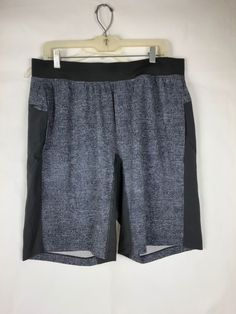 88ef1da763 LULULEMON Men's Shorts Black Light Gray Size L Large 1092 #Lululemon  #Athletic Lululemon Men
