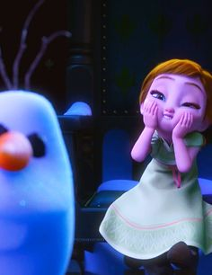 Anna is cute but Olaf just creeps me out in this picture
