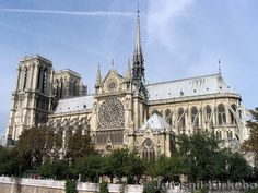 Notre Dame. When I was 12 I went to Paris, unfortunately Notre Dame was undergoing some renovations so I didn't get a good luck. I hope to get back there soon. I love the Gothic architecture, especially the Rose Window