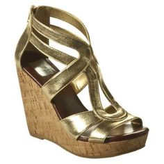 Gold cork wedge sandals (Dolce Vita for Target) Gorgeous gold metallic & cork wedges by Dolce Vita for Target•Only worn twice for a couple of hours at events•Super comfortable, you won't want to take them off!•Back ankle zipper•4 inch heel•Make me an offer! Dolce Vita Shoes Wedges