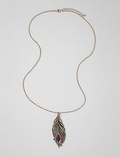 Jewelry | Necklaces | Peacock Feather Pendant