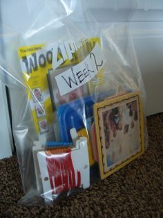 Sacrament Meeting Ideas- have a bag for each week of the month so they don't get tired of their toys!