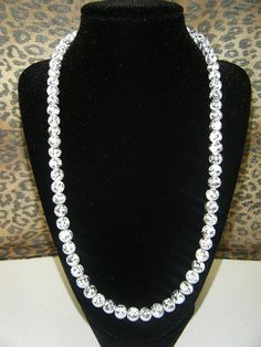 Silver and White Pearl Style Necklace by KlutterKitten on Etsy, $15.00