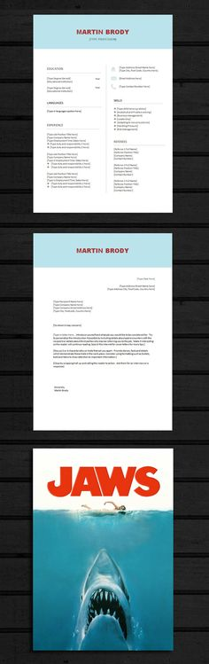 Resume One Page, Resume Word Template Plus Cover Letter, The - resume one page