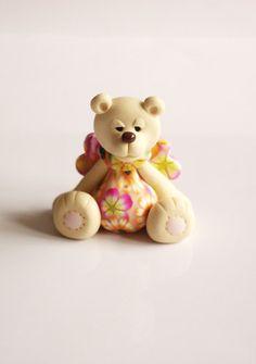 *POLYMER CLAY ~ Angel bear.