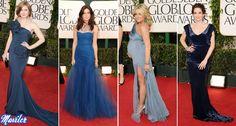 2011: Amy Adams- MARCHESA; Mandy Moore- MONIQUE L'HUILLIER; Jane -BADGLEY MISCHA; Tina Fey