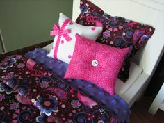 Pink / Purple Birdsong Bedding Set for by MadiGraceDesigns on Etsy, $27.00