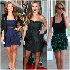 Audrina Partridge is a smaller inverted triangle with her petite frame ...