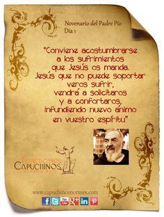 Hoy 14 de Septiembre inicia el novenario de Padre Pío. ¡Paz y bien!