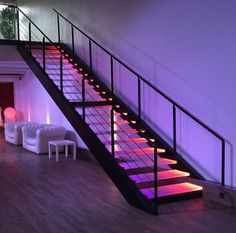 stairs : floated, suspended / straight, quarter or half turn . Home Room Design, Dream Home Design, My Dream Home, Dream House Interior, Luxury Homes Dream Houses, Escalier Art, Aesthetic Bedroom, House Goals, Dream Rooms