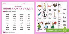"""Folosiți acest fișe de citire pentru consolidarea literei """"c"""". Fișa cuprinde exerciții de citire a unor cuvinte ilustrate, despărțite în silabe, citire a unor propoziții, dar și exerciții de asociere imagine-cuvânt, imagine-propoziție. Free Teaching Resources, Preschool Learning, Real People, Google Drive, Curriculum, Create Yourself, Resume, Teaching Plan"""