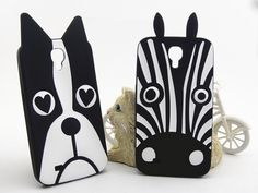New 3D Cute Cartoon Animal Design Cover Love Dog Zebra Owl Soft Silicone Phone Case Cover for Samsung Galaxy S4 I9500