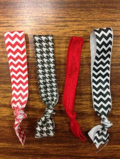 Alabama emi jay style hair ties! So cute for gameday!!