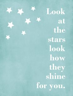 Stars,Graphic Art Print, Wall Art, Nursery Art, Child's Room, Typography, Custom, Song quote, Frame Ready.