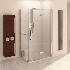 Designer radiator in shower room