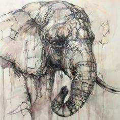 Elephant Painting - Imgur #Art #AnimalArt #Elephant