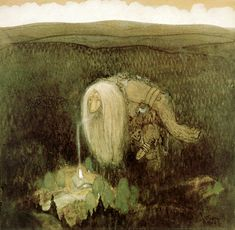 A Forest Troll Painting by John Bauer Reproduction John Bauer, Edmund Dulac, Oil Painting Reproductions, Celtic Designs, Cool Posters, Photo Wallpaper, Les Oeuvres, Fairy Tales, Fairy Dust