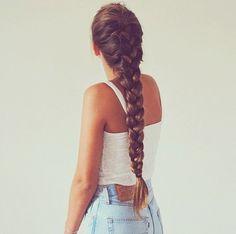 Long thick braid