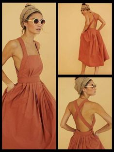 Fantastic Images sewing dresses easy Tips Easy cross back dress pattern similar to pair and a spare Dress Outfits, Cute Outfits, Fashion Outfits, Diy Dress, Shirt Dress Diy, Easy Sew Dress, Work Outfits, Dress Ideas, Dress Fashion