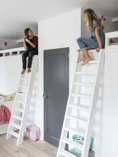 loft beds, shared room