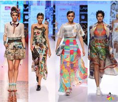 Graphic bohemian prints tribal fashion trends lfw 2015
