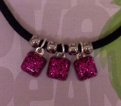 Three Square Resin Necklace £10.00  By Lisa Jane