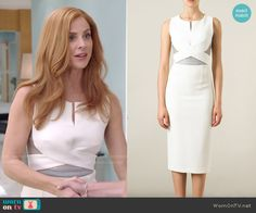 worn by Donna Paulsen (Sarah Rafferty) on Suits Lawyer Fashion, Fashion Tv, Suit Fashion, Work Fashion, Fashion Black, Donna Suits, Suits Serie, Suits Tv Shows, Simple Dresses