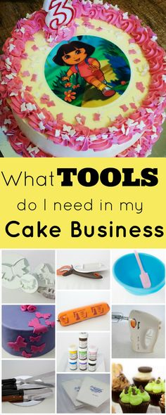 What tools do I need in my cake business? When setting up to start a cake business, it can be really overwhelming what tools and equipment to buy, because there is so much cake decorating stuff out there! You want to start building up your tool kit, and spend your money on things you will need and use in a cake business.